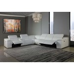 9762 - White 3-Power Reclining 7PC Sectional w/ 1-Console