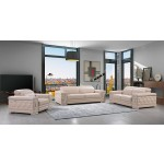 692 - Beige Sofa Set