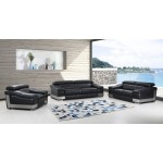 415 - Black Sofa Set